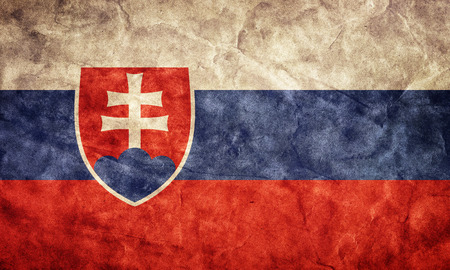 Slovakia grunge flag. Vintage, retro style. High resolution, hd quality. Item from my grunge flags collection. Stock Photo