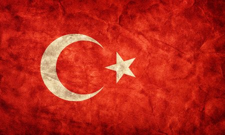 history: Turkey grunge flag. Vintage, retro style. High resolution, hd quality. Item from my grunge flags collection.