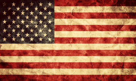 USA grunge flag. Vintage, retro style. High resolution, hd quality. Item from my grunge flags collection. 스톡 콘텐츠