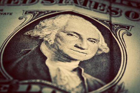 george washington: la moneda de los Estados Unidos, el concepto de dinero Foto de archivo