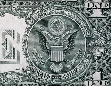 bill: American dollar bill.
