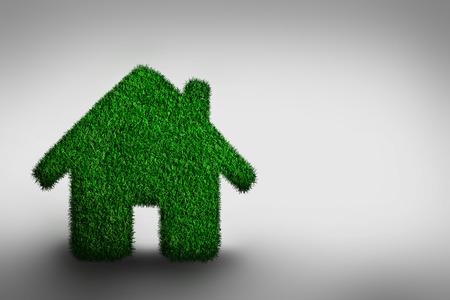 rural development: Green, eco friendly house concept.