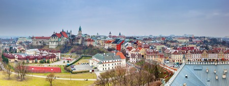 lublin: Lublin old town panorama, Poland. View from the Castle.