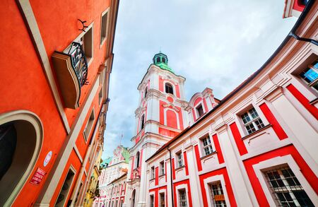 jesuit: Jesuit College in Poznan, Posen, Poland. Established by King Sigismund III Vasa in 1611 Stock Photo