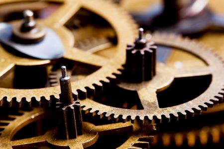 gear shape: Grunge gear, cog wheels background. Concept of industrial, science, clockwork, technology.