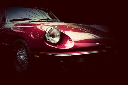 xe retro cổ điển trên nền tối. phong cách cổ điển, thanh lịch. Kho ảnh