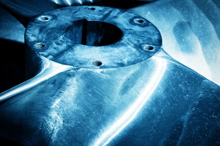shipbuilding: Heavy industrial shipbuilding element close-up. Industry, naval production. Blue tone Stock Photo