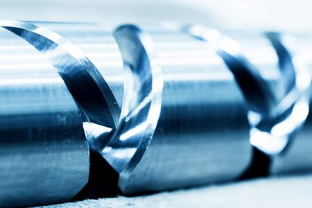 industrial element: Heavy industrial element, screw. Industry, close-up background