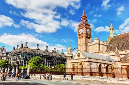 portcullis: Big Ben, il Palazzo di Westminster a Londra, nel Regno Unito, e la casa Portcullis. Camere del Parlamento in Inghilterra, Regno Unito