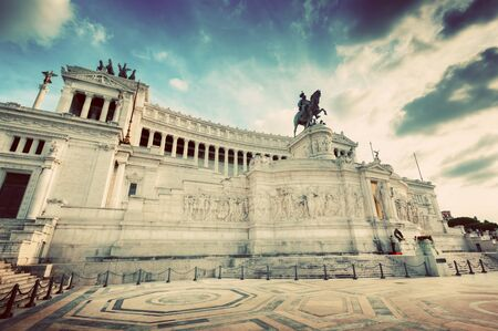 emmanuel: The Altare della Patria in Rome, Italy. National Monument to Victor Emmanuel II. Vintage Stock Photo