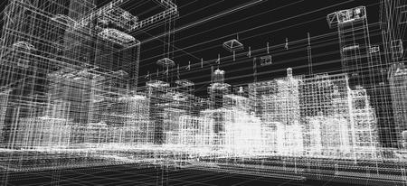 imprenta: Ciudad proyecto edificios, imprimir alambre 3d, diseño. Arquitectura, plan urbano, la industria de bienes raíces