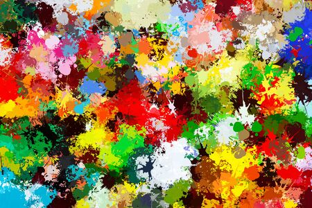 wallpapers: Colorful paint splashes background. Creative art, wallpaper Stock Photo