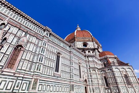 firenze: Florence, Italy. Cathedral of Saint Mary of the Flowers. Italian Cattedrale di Santa Maria del Fiore, Firenze Stock Photo