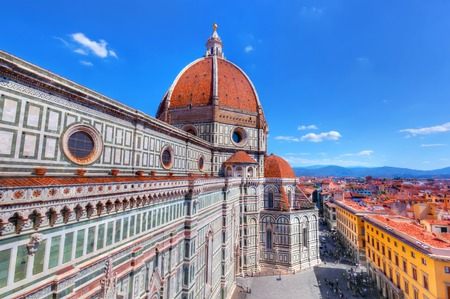 Florence, Italy. Cathedral of Saint Mary of the Flowers. Italian Cattedrale di Santa Maria del Fiore, Firenze
