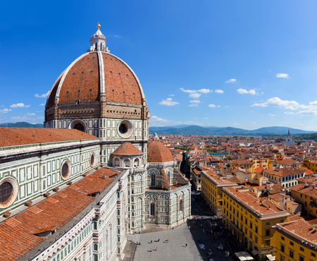 cattedrale: Florence, Italy. Cathedral of Saint Mary of the Flowers. Italian Cattedrale di Santa Maria del Fiore, Firenze Stock Photo