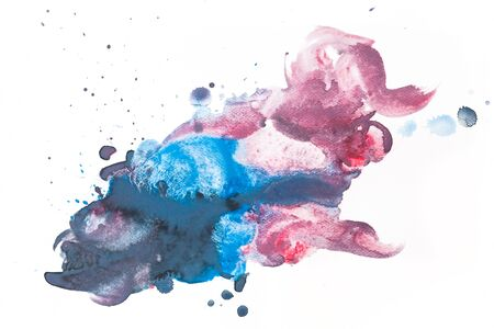 abstract paint: Colorful watercolor paint on white canvas. Abstract background. Super high resolution and quality. Perfect for brush, design, template etc. Stock Photo