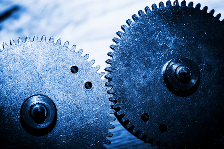 cog gear: Grunge gear, cog wheels. Concept of industrial, science, machine, technology. Stock Photo