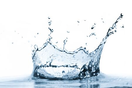 Water splash isolated on white background. Clear, fresh, healthy drink concept.