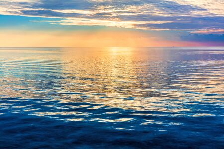 tranquil: Calm ocean at sunset. Dramatic sky over Maldives.
