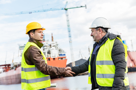 concluded: Shipbuilding deal concluded by a handshake of two engineers. Company contract