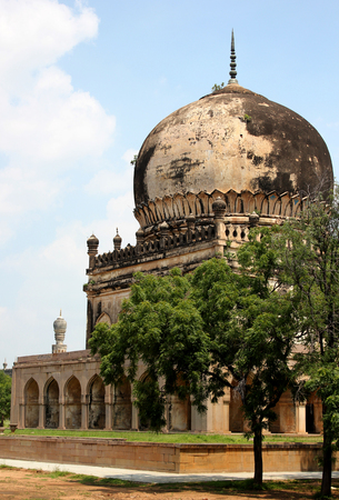 One of the Tombs at Qutub Shahi Hyderabad Stock Photo