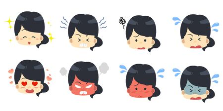 Female Facial Expression Set 2