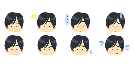 Male facial expression set 1
