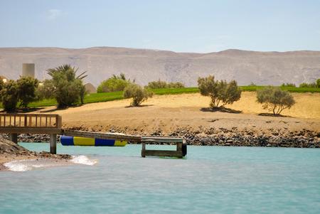 lagoon: Beautiful artificial island, Blue lagoon