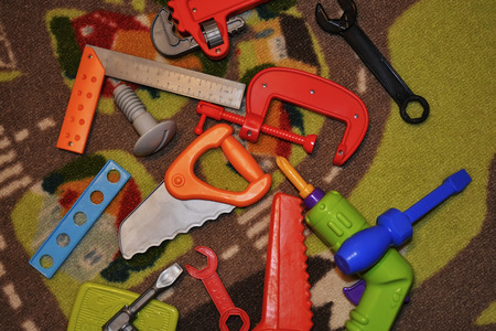 Colorful kids instruments, shapes and colors photo