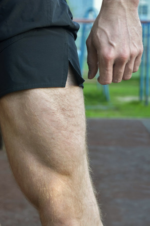 muscularity: View of a muscle leg strength and power