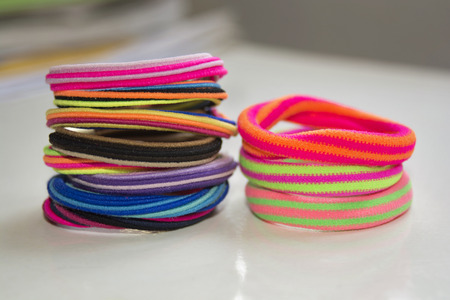 scrunchy: Colorful scrunchy of different colors, shapes