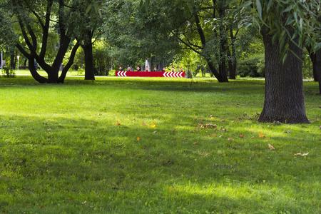 urban life: Beautiful view of the park, urban life