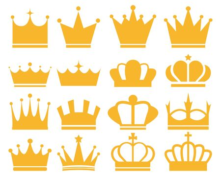 Crown Icon Set Crown Crown Vector Star