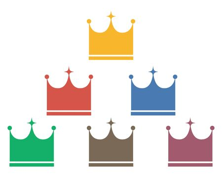 Crown Icon Set Crown Crown Vector