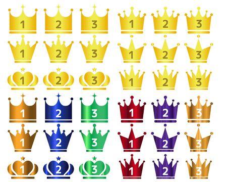 Crown Icon Set Crown Crown Vector Star
