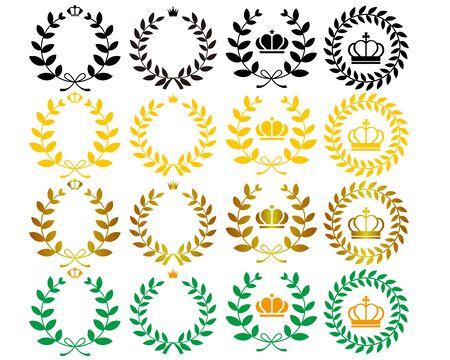 Crown Laurel Ranking Star Set