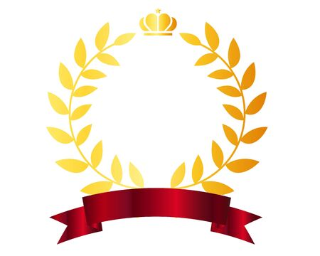 Nastro della stella della classifica della corona di alloro Vettoriali