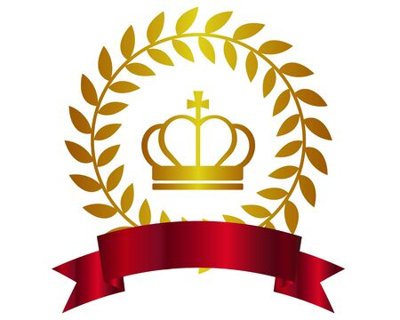 Crown Laurel Ranking Ribbon