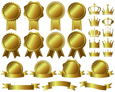 Médaille de la Couronne Ruban Classement Or