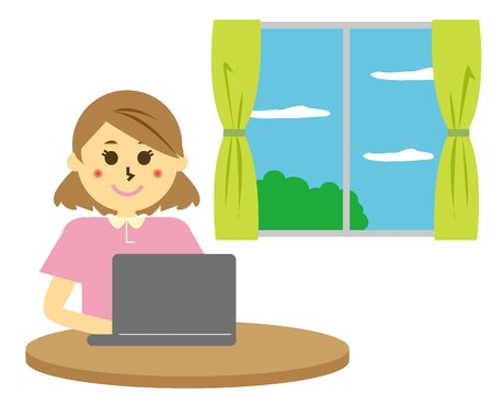 Vector illustration recommending remote work. working from home