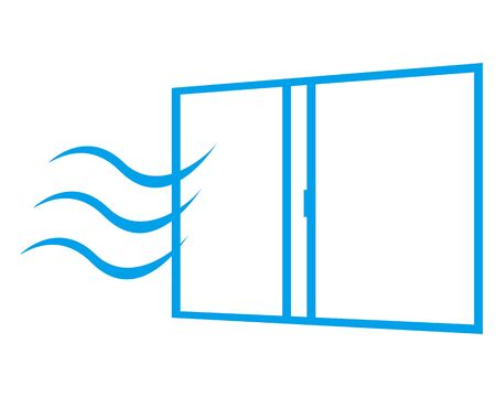 illustration Vector opening the window and replacing the air . Vettoriali
