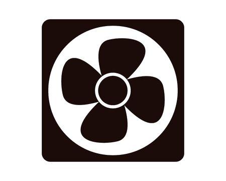 illustration Vector of a ventilation fan, kitchen ventilation fan  イラスト・ベクター素材