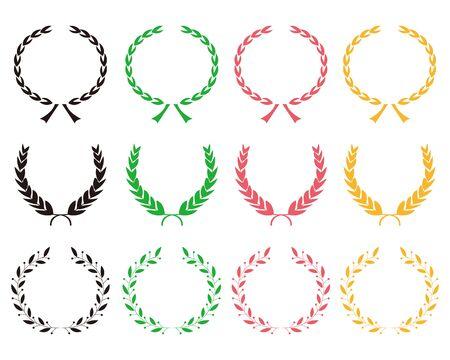 icon laurel wreath. illustration vector.simple icon.