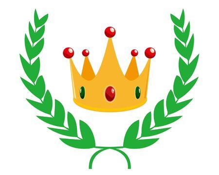 Crown Number Of Laurel. Ranking. Laurel wreath. vector