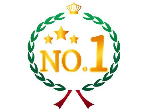 Crown Number Of Laurel. ribbon. Ranking. Laurel wreath. vector