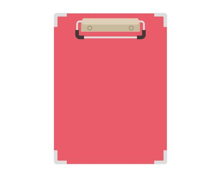 Clipboard vector illustration . Fill out the questionnaire .