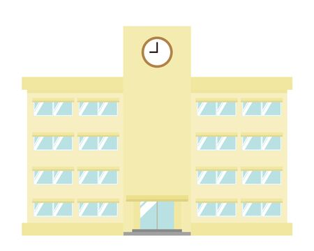 School building vector illustration .
