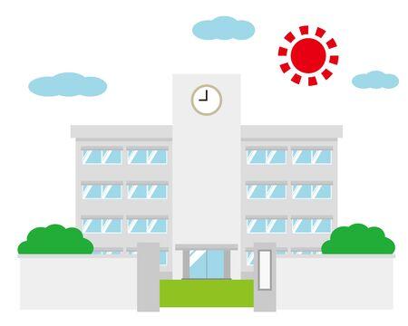 School building vector illustration .