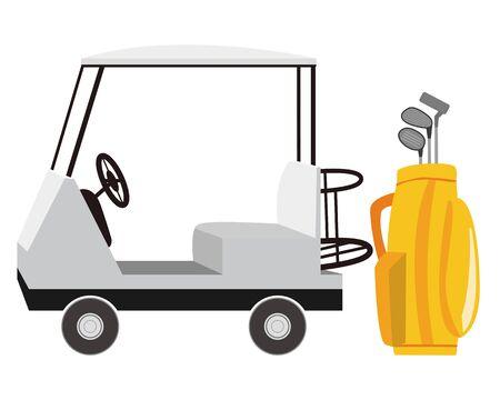 illustration vector of golf cart .