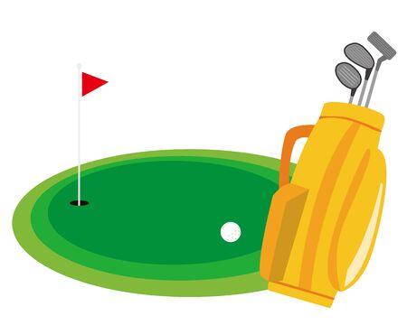 Golf club icon. illustration Vector about golf . golf club bag